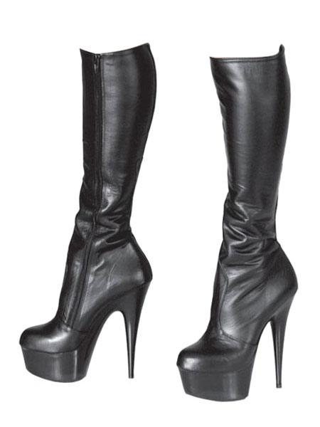 botas altas negras