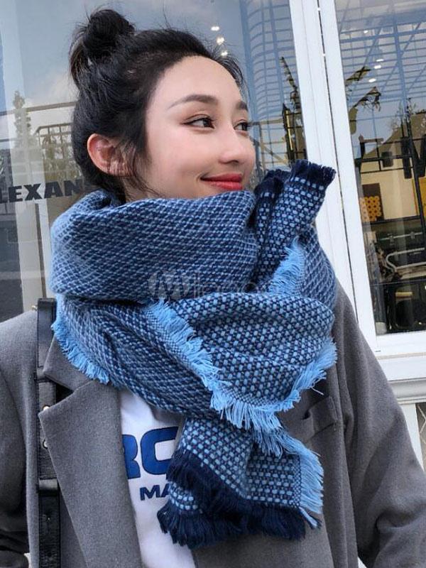 precio competitivo 8bacc f608b Bufanda de punto tejida bufandas grandes de gran tamaño para las mujeres