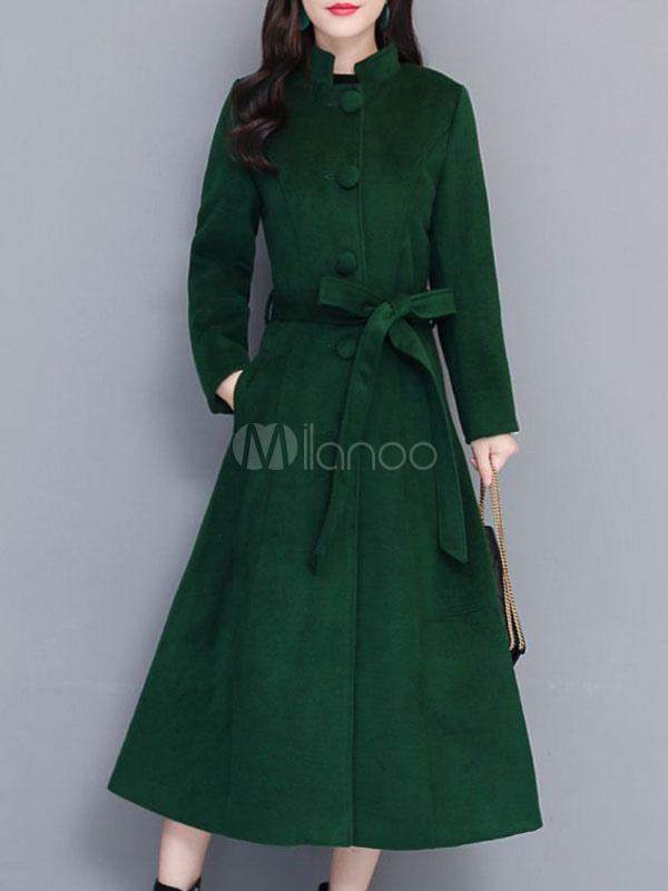 vert femme d'hiver capuche à Manteau montant à Manteau col pour nkOwP0