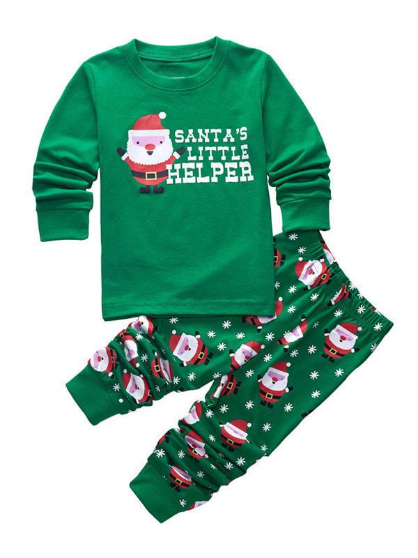 b68a9cc5eb Pigiama natalizio per bambini Pigiama natalizio per bambini Babbo Natale  con righe e pantaloni a righe ...