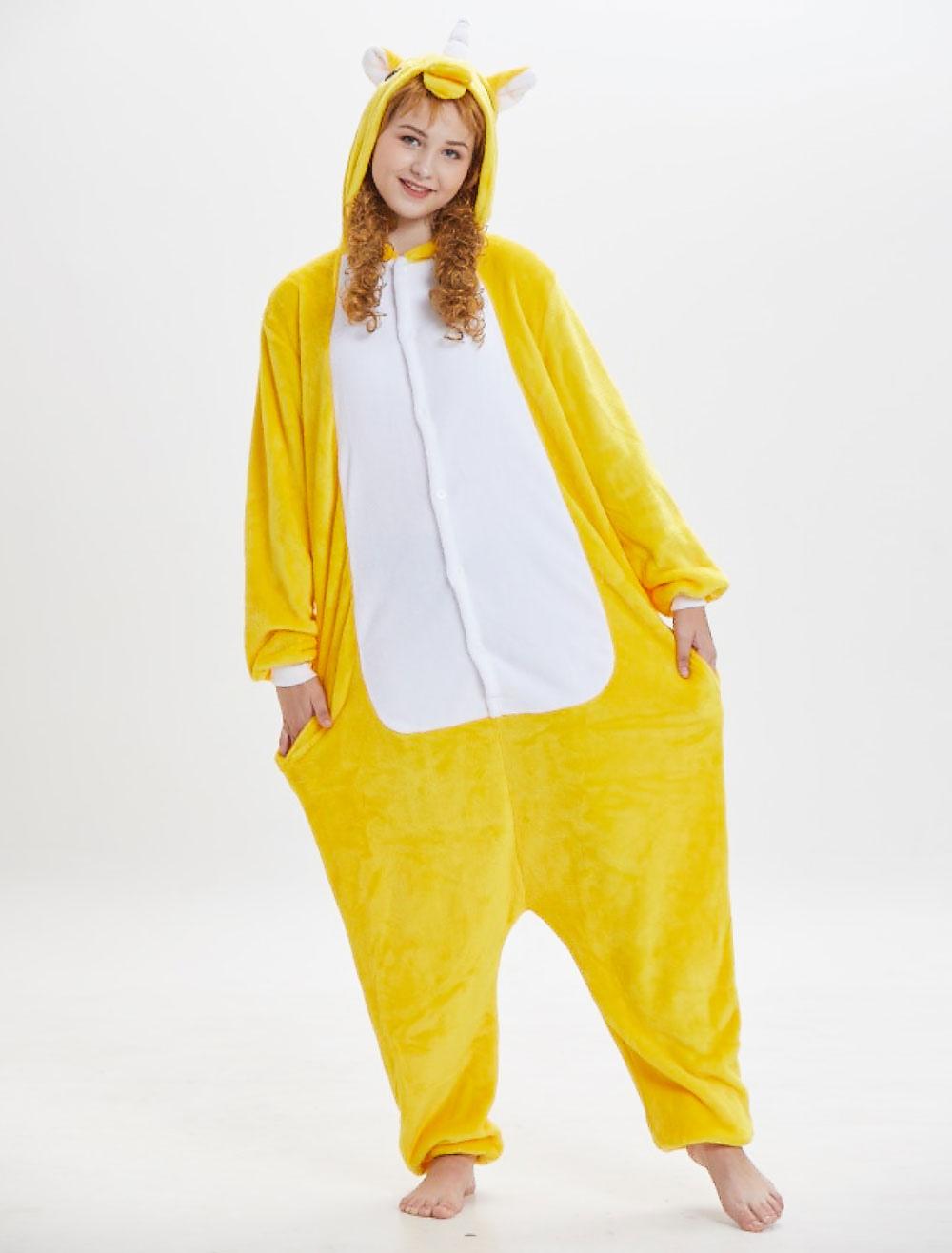 ... Unicorn Kigurumi Onesie Pajamas Pegasus Yellow Flannel Unisex Adults  Jumpsuits-No.6. 12. 40%OFF. Color Yellow b0c889e19