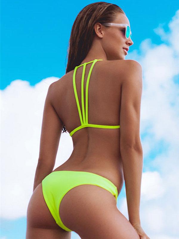 4022f76df8 Costume da Bagno 2019 Bikini Bikini Triangolo Sexy Perizoma Bikini Perizoma  per Donna-No.