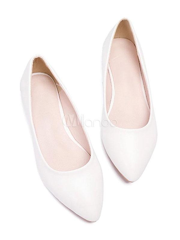 bene fuori x saldi nuovi prodotti per Ballerine bianche Scarpe da donna Scarpe da damigella d'onore