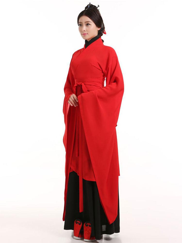 b5fd9b4498c75 Traje chino antiguo hanfu traje rojo tradicional para mujer halloween jpg  750x1000 Trajes rojos para mujeres