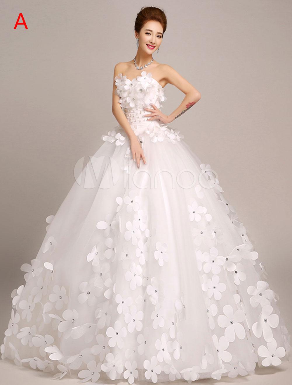 4e2b12886 Vestido de novia princesa Con cola con escote palabra de honor sin mangas  De banda de ...