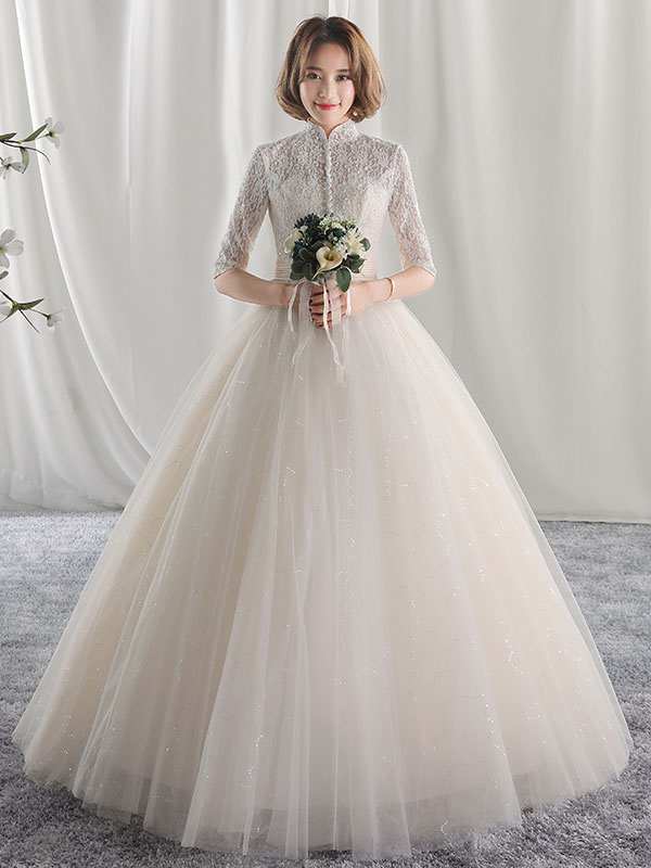Pleated Ball Gown Wedding Dresses
