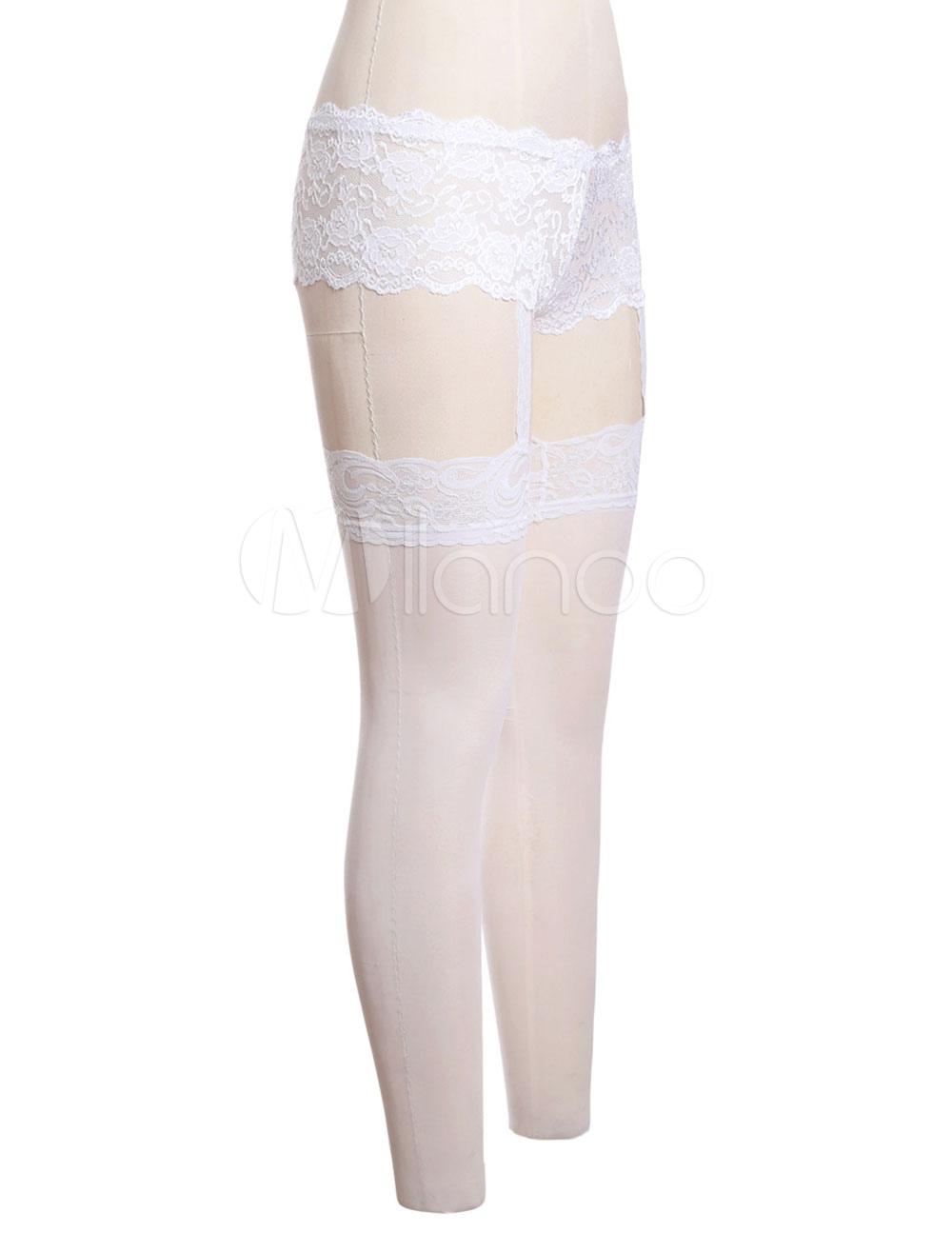 White sheer pantyhose