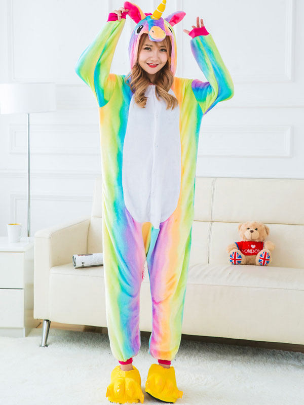 einhorn kost m kinder regenbogen tierkost me pyjamas einhorn onesie flanell halloween kost m. Black Bedroom Furniture Sets. Home Design Ideas