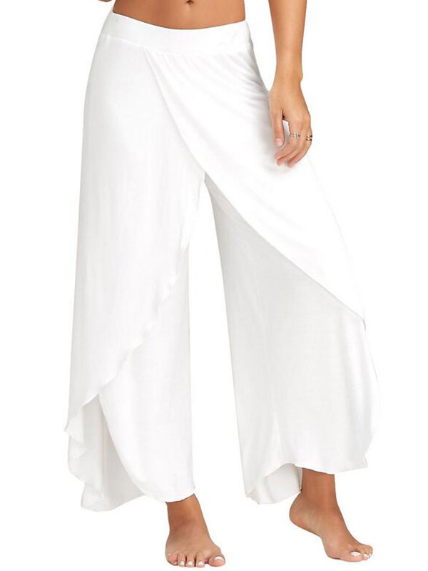 pantalon habill pour femme pantalon larges pattes rayures hautes. Black Bedroom Furniture Sets. Home Design Ideas