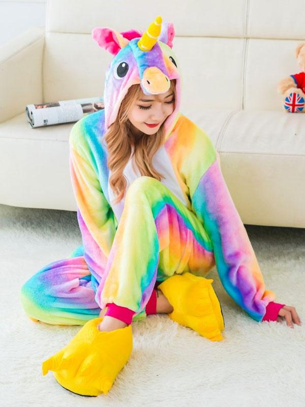 Dreaming Unicorn 2018 Kigurumi Pajamas Flannel Halloween Costume