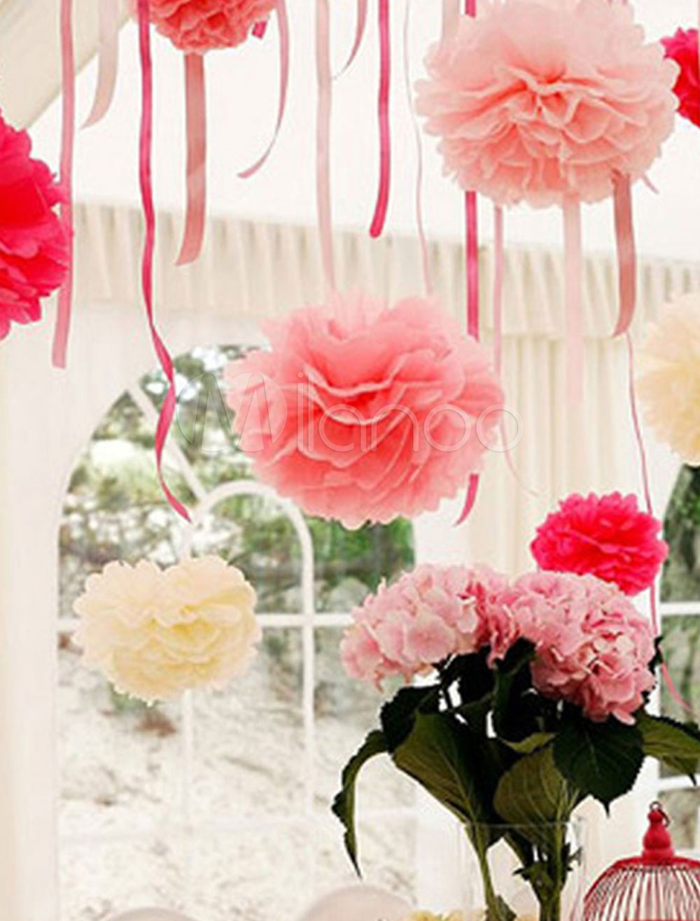 Wedding Flower Decoration Flower Ball Paper Ball 5 Piece