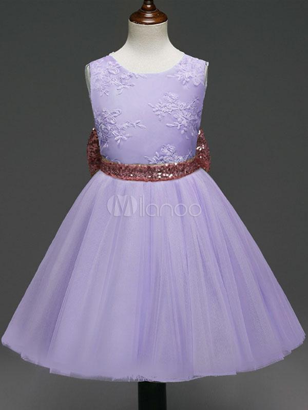 Vestido de niña para boda 2018 de flores con escote redondo de ...