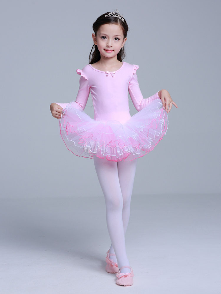 dea6f175f Ballet Dance Costumes Pink Organza Ballerina Costume For Kids ...