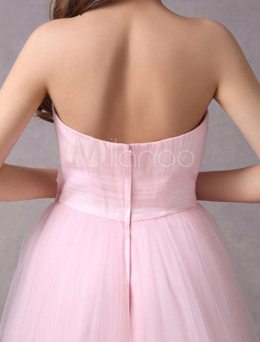 Vestido de novia de tul rosado con escote cuadrado de estilo moderno ...
