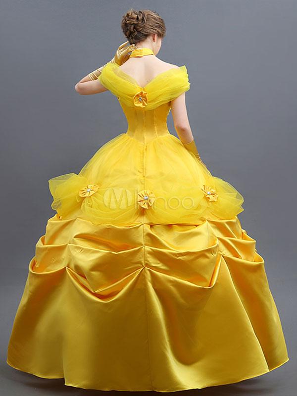 a3a0a556d7ec4 ... ディズニーカートゥ ハロウィン コスプレコスチューム イエロー ドレス ...