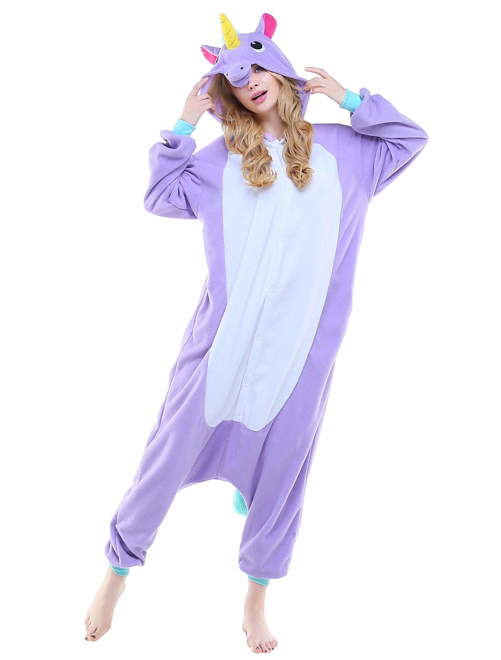 ... Kigurumi Pajama Licorne Unicorn Onesie Adults Unisex Flannel Animal  Costume Halloween-No.2 ... 6307f8066