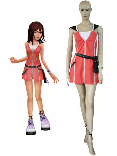 Kingdom Hearts Kairi Red Dress Cosplay Costume Halloween