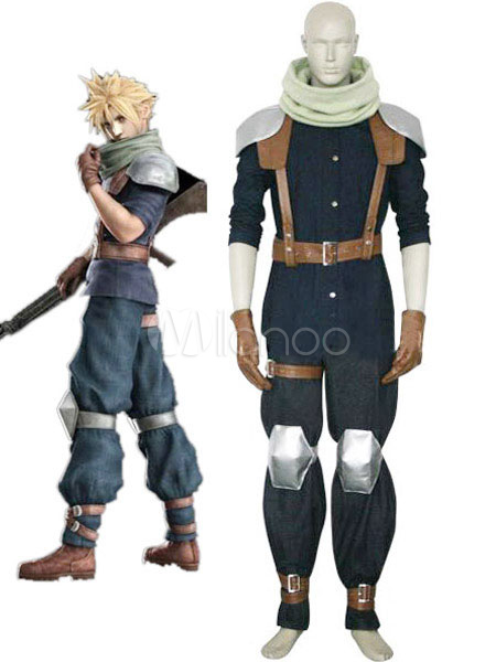 Final Fantasy VII Crisis Core Cloud Strife Cosplay Costume Halloween