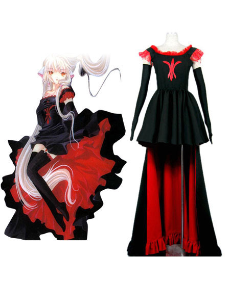 Buy Chobits Freya Halloween Cosplay Costume Black Gothic Lolita Dress Halloween for $107.63 in Milanoo store
