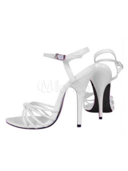 High Heel White Patent Sexy Sandals