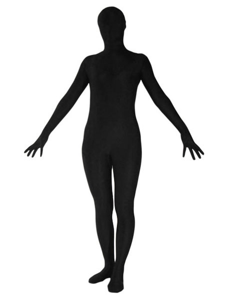 Halloween Zentai Suit Black Lycra Spandex Full Bodysuit Morphsuit