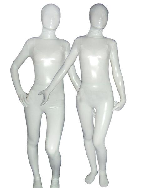 Halloween White Metallic Zentai Suit Halloween