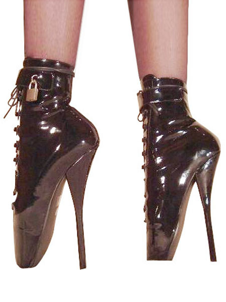 Black High Heel Patent Leather Shoes