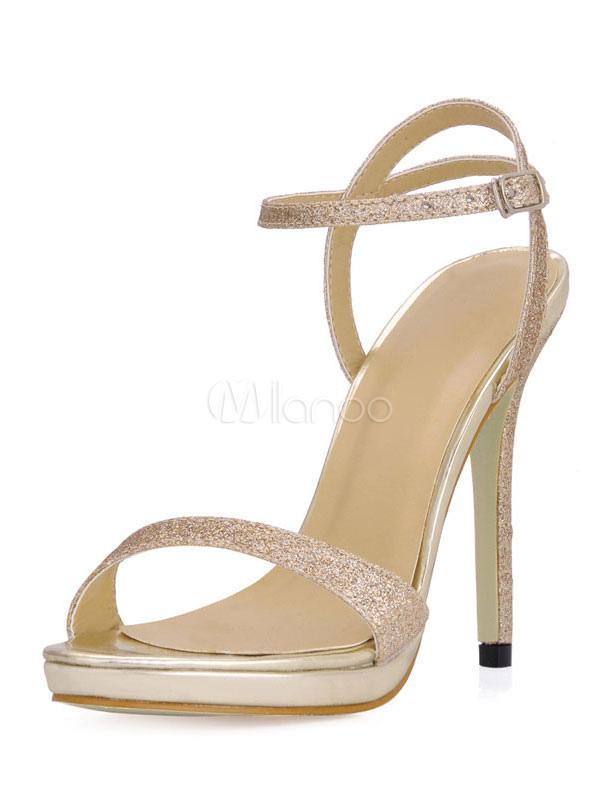 Sexy Gold Dress Sandals