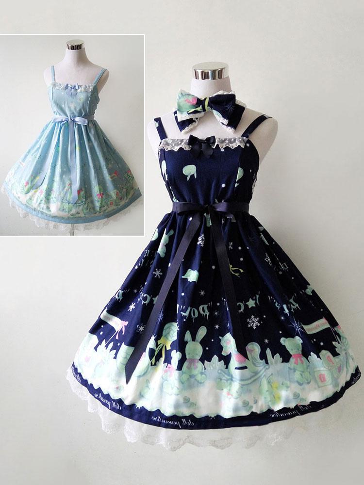 Sweet Lolita Dress Ice Dolls JSK Chiffon Ruffles Lolita Jumper Skirt