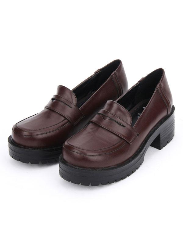 Sweet Lolita Shoes Deep Brown Platform Chunky Heel Lolita Pumps