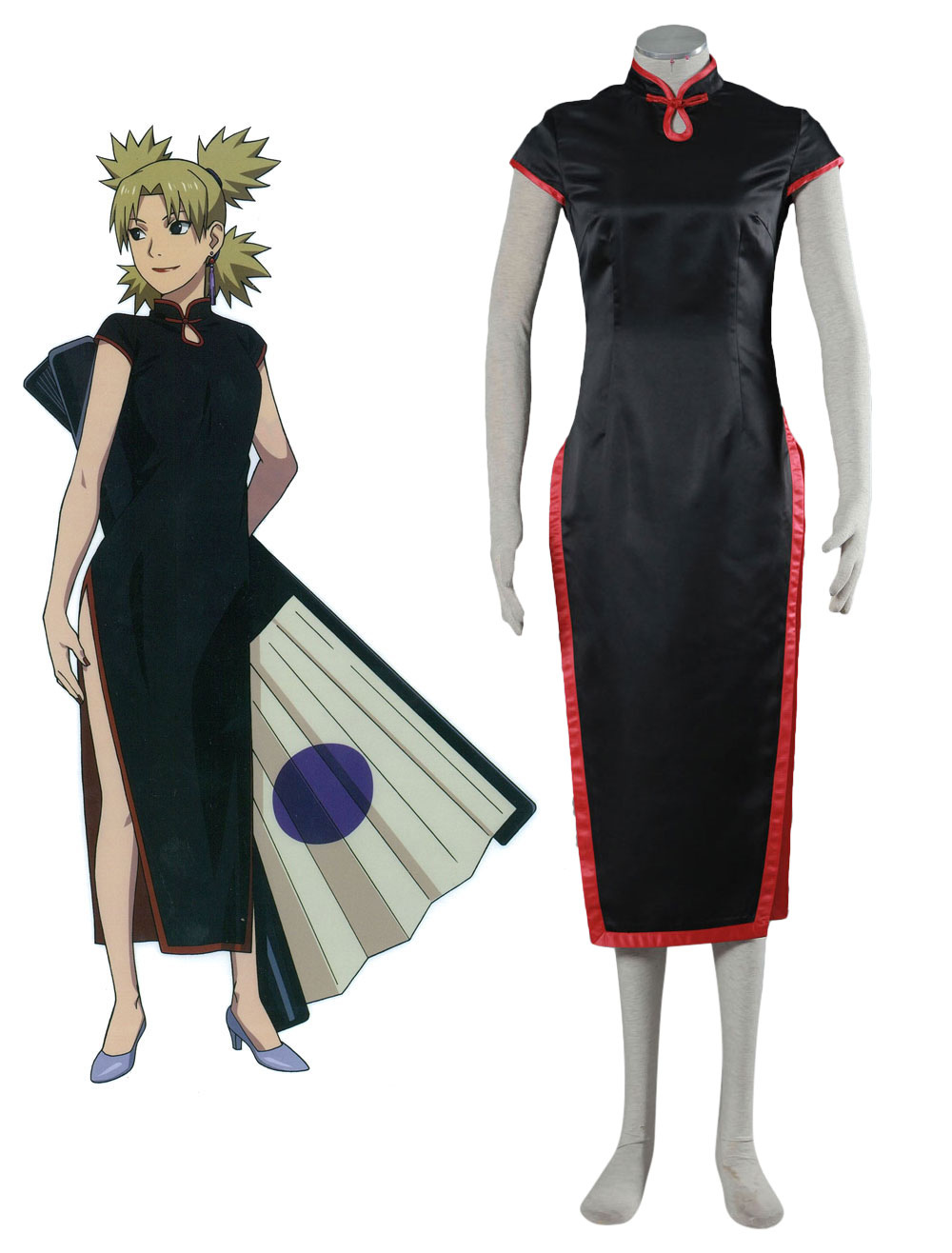 Buy Naruto Temari Cosplay Costume Chinese Style Costume Halloween for $35.99 in Milanoo store