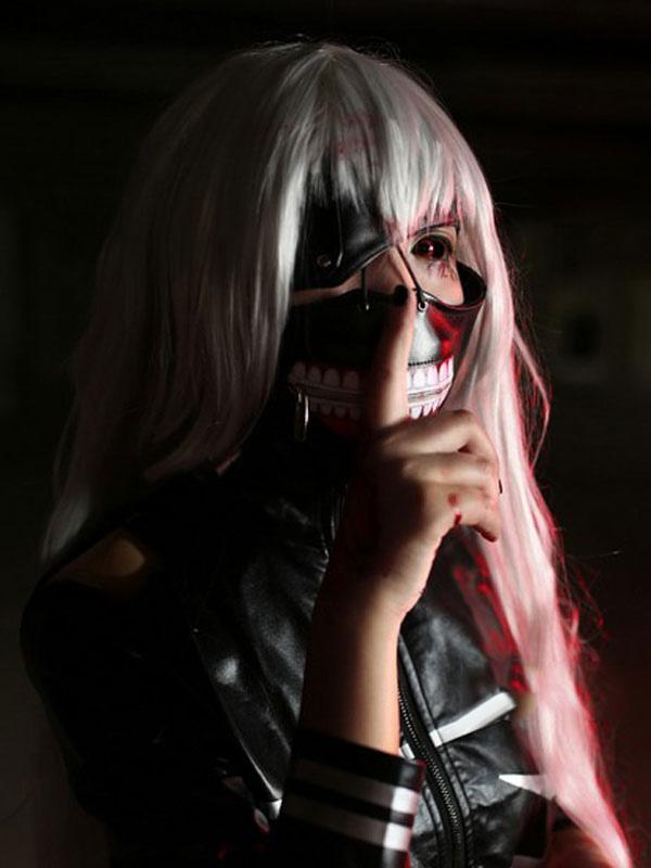 Tokyo Ghoul Kaneki Ken Female Version Cosplay Wig Halloween