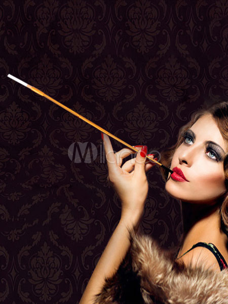 Costume de flapper style charleston vintage tabac pipe - Deguisement audrey hepburn ...