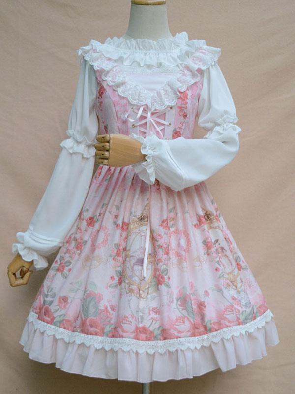 White Lolita Blouse Sweet Neverland Vintage Lolita Shirt