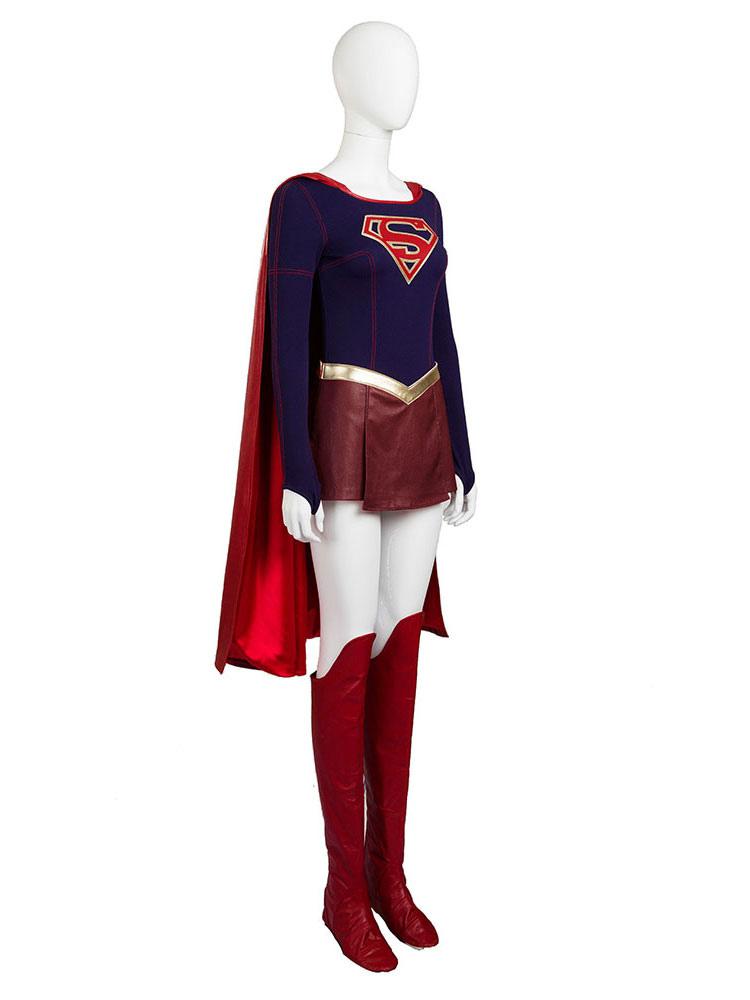 Supergirl Kara Danvers Halloween Cosplay Costume Halloween