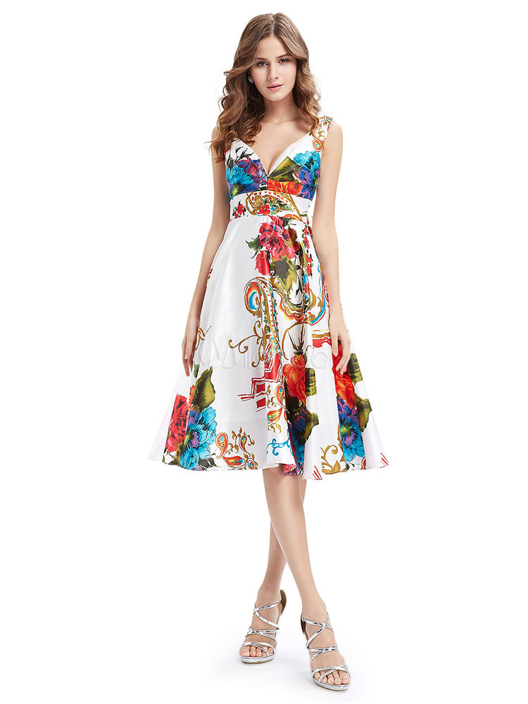 Short Prom Dresses 2018 African Print Prom Dress Backless Floral ...