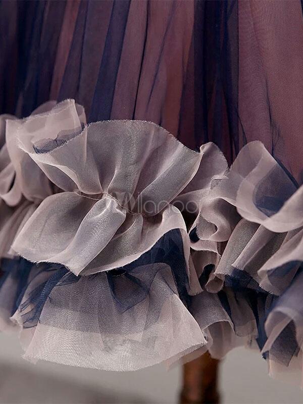5a5d0285b6a ... Tulle Prom Dress Lace 3D Flower Short Cocktail Dress Bateau Sleeveless  Ruffle Homecoming Dress-No
