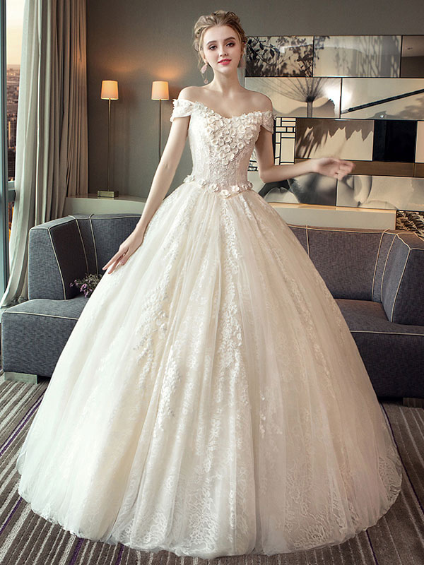 Lace Wedding Dresses Princess Ball Gown Bridal Dress Off The ...
