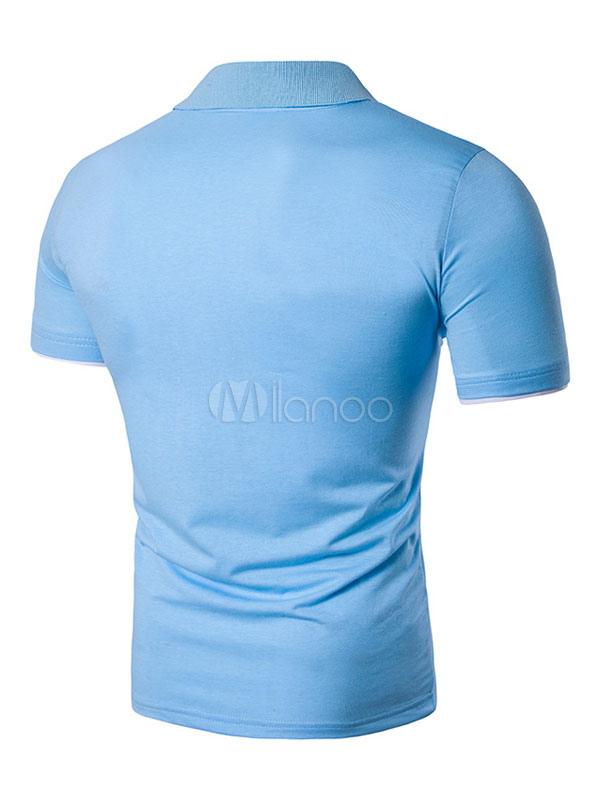 cb91c6468f Casual Men T Shirt Floral Print Cotton Tee Top Short Sleeve Polo Shirt
