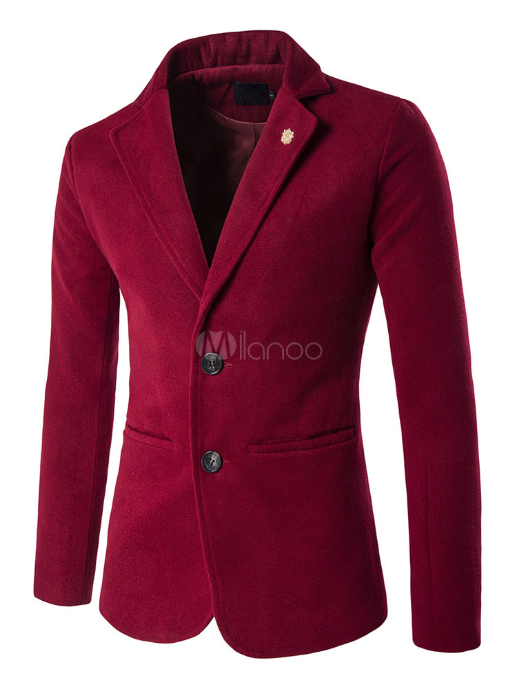 Buy Casual Men Blazer Notch Collar Two Button Suit Jacket Cotton Blazer For Men for $43.99 in Milanoo store