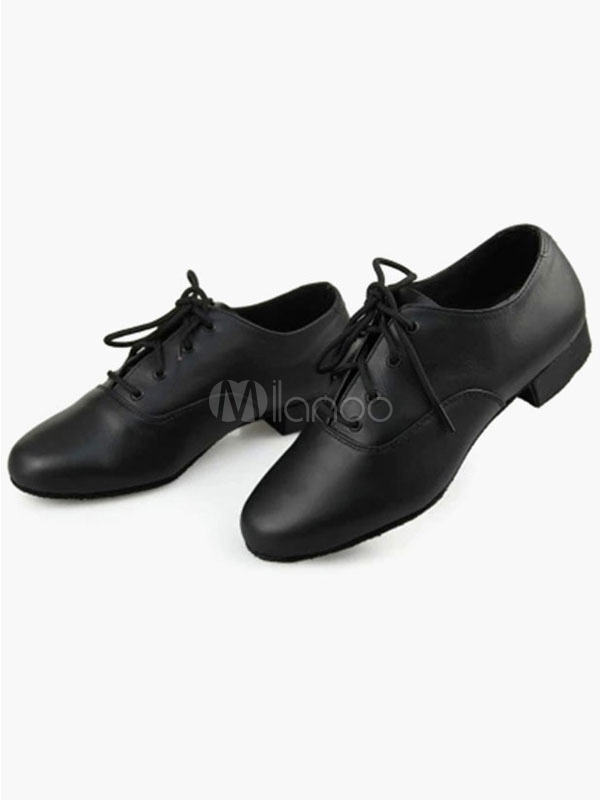 Lace Up PU Leather Ballroom Shoes