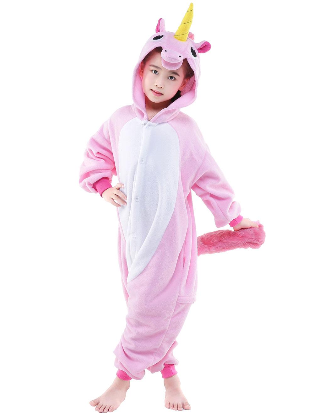 f42737b70f1e ... Kigurumi Pajama 2019 Pink Licorne Unicorn Onesie Kid Flannel Sleepwear  Costume Halloween-No.3 ...