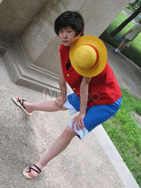 One Piece Monkey D Luffy Cosplay Shoes Halloween