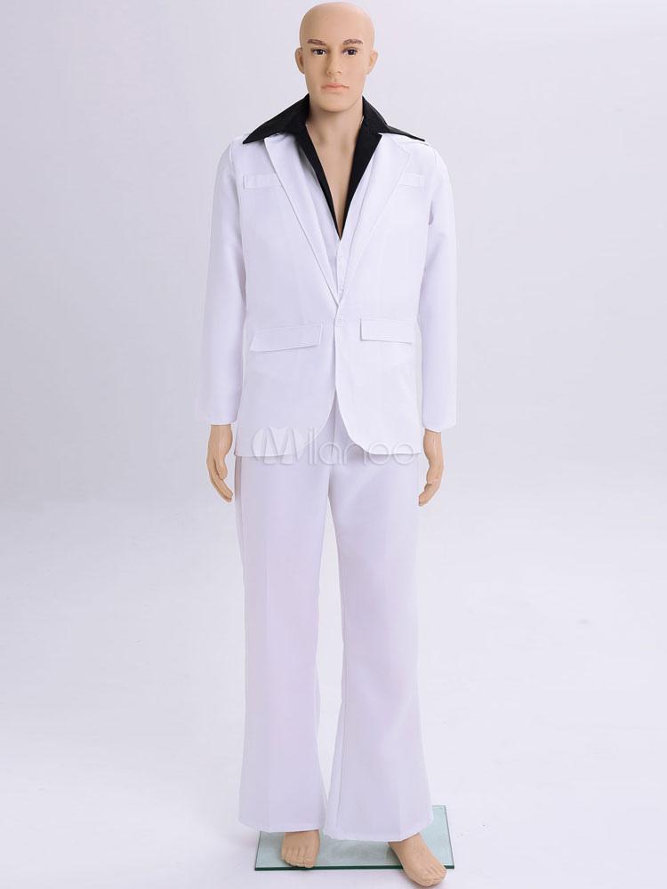 Herren Karneval Kostüm Männer Weiße Hosen Outfit Halloween