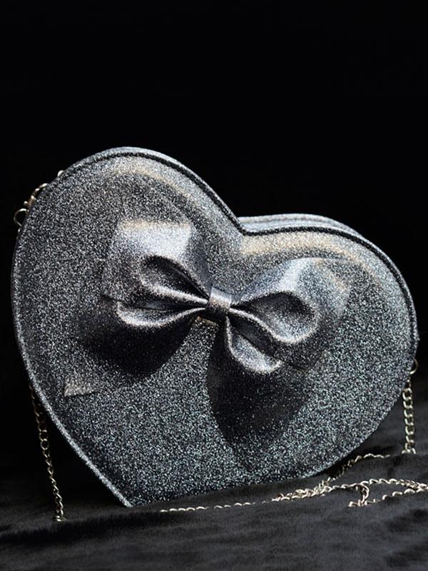 Buy Sweet Lolita Bags Grey Heart Shape Lolita Shoulder Bags for $45.59 in Milanoo store