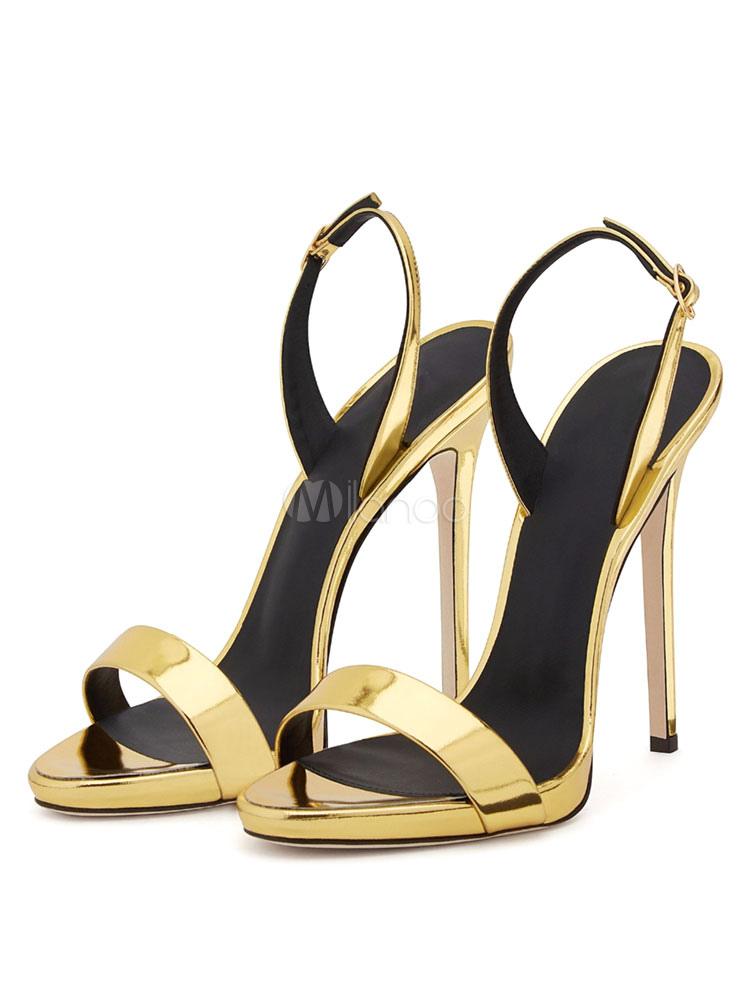 95af579b02 ... High Heel Sandals Plus Size Black Open Toe Two Part Slingbacks Stiletto  Sandal Shoes-No ...