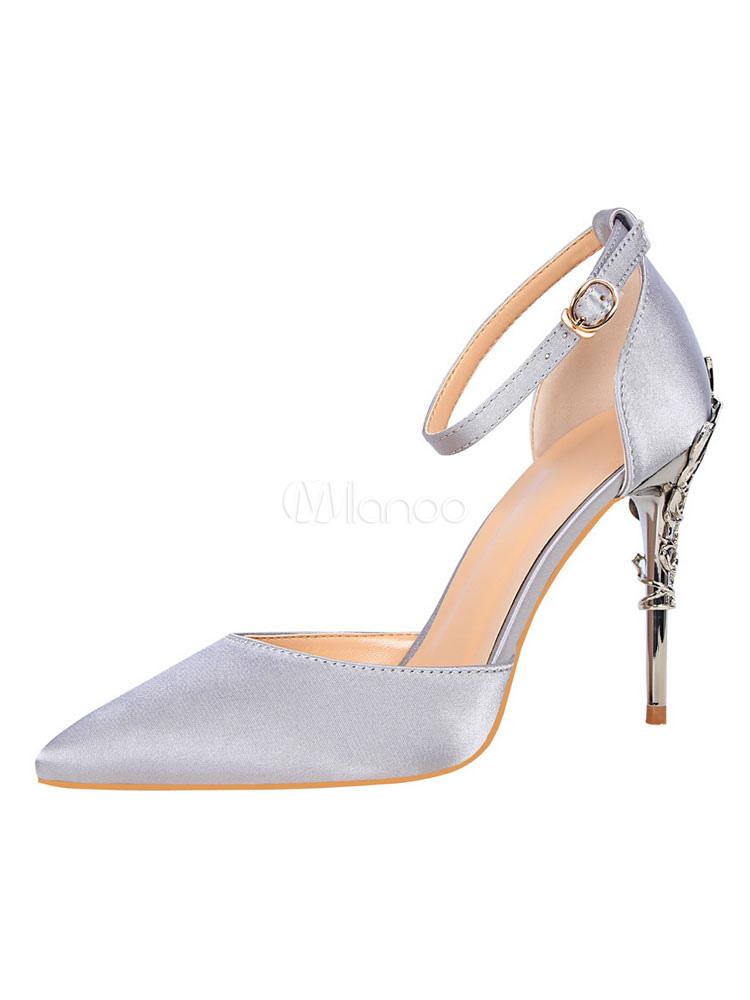 dea901fe4943 Scarpe con tacchi alti cerimonia monocolore tacco a fino 10cm a punta con  decori in metallo ...