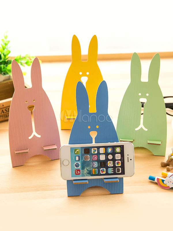 Wood Phone Stand Bunny Cut Out Cute Phone Holder