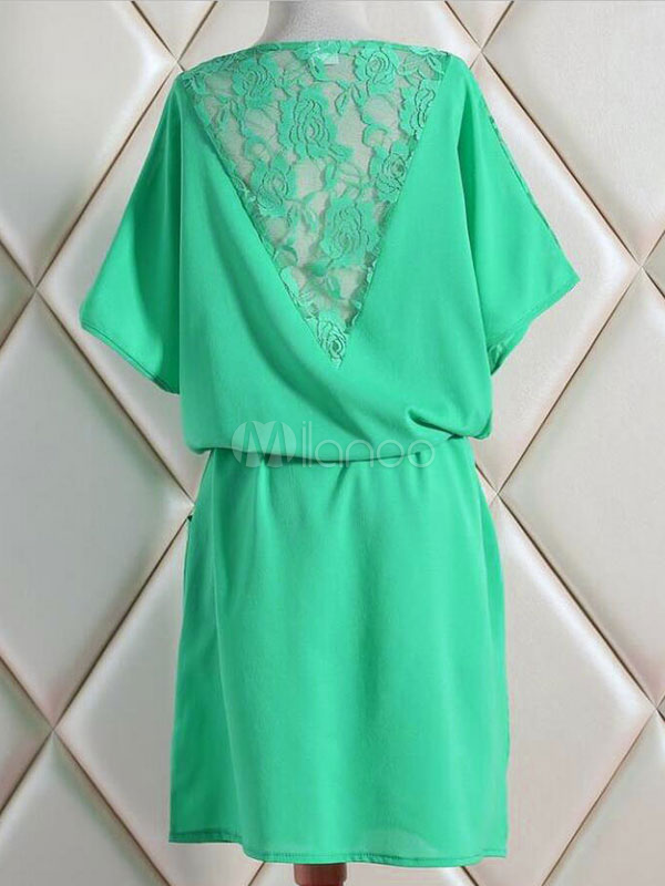 efefd582ac ... Tunic Dresses Plus Size Womens Dresses Lace Short Sleeve Round Neck  Drawstring Dark Navy Summer Dresses ...