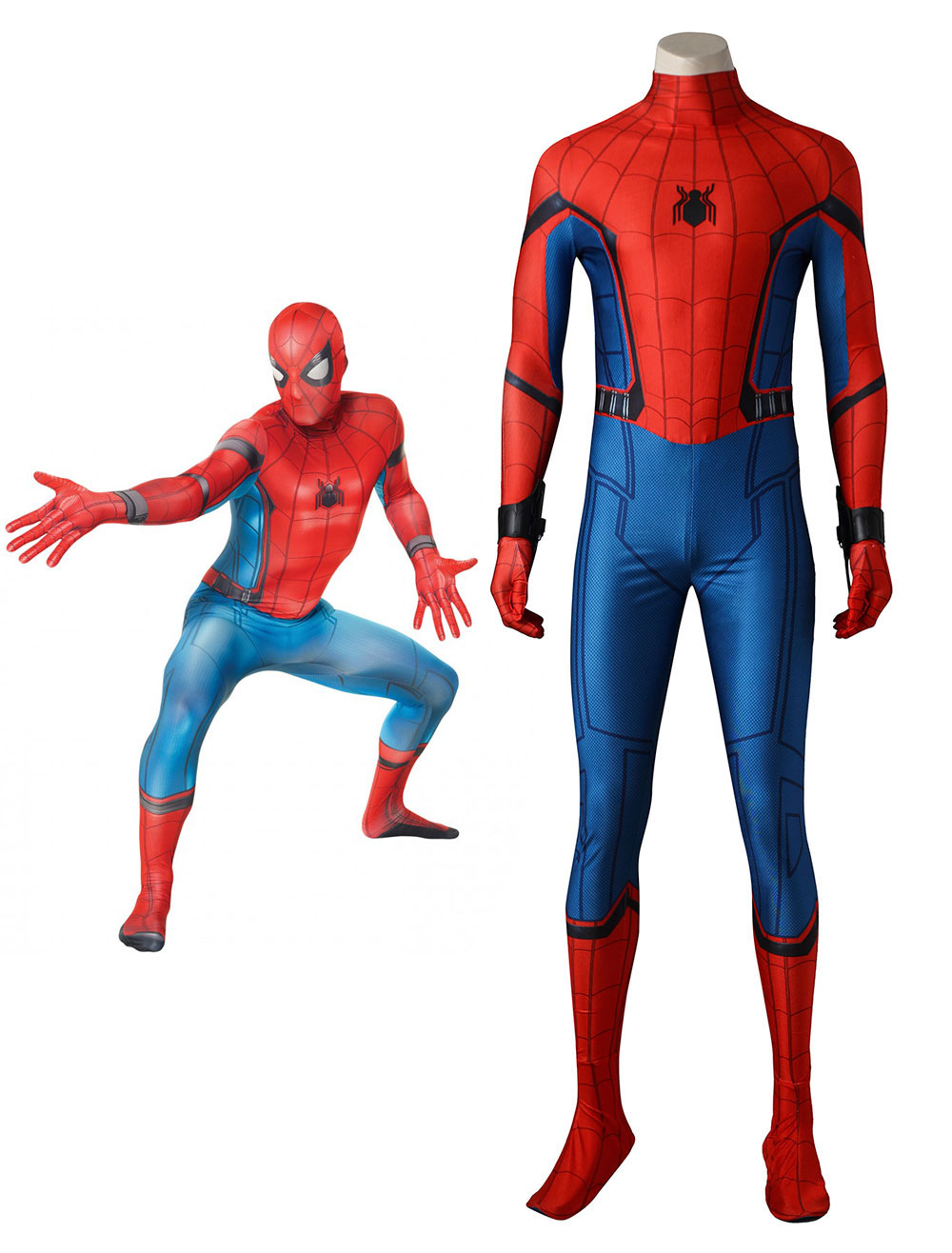 Marvel Comics Spiderman Homecoming Movie Peter Benjamin Parker Cosplay Costume In 4 Pieces